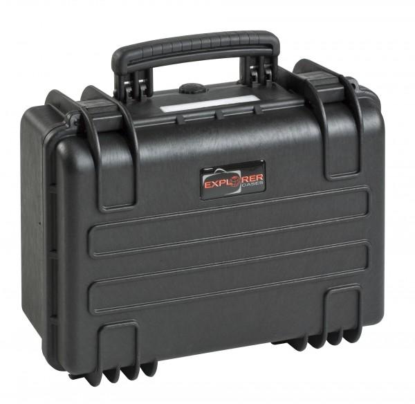 Explorer Koffer 3818 schwarz geschlossen