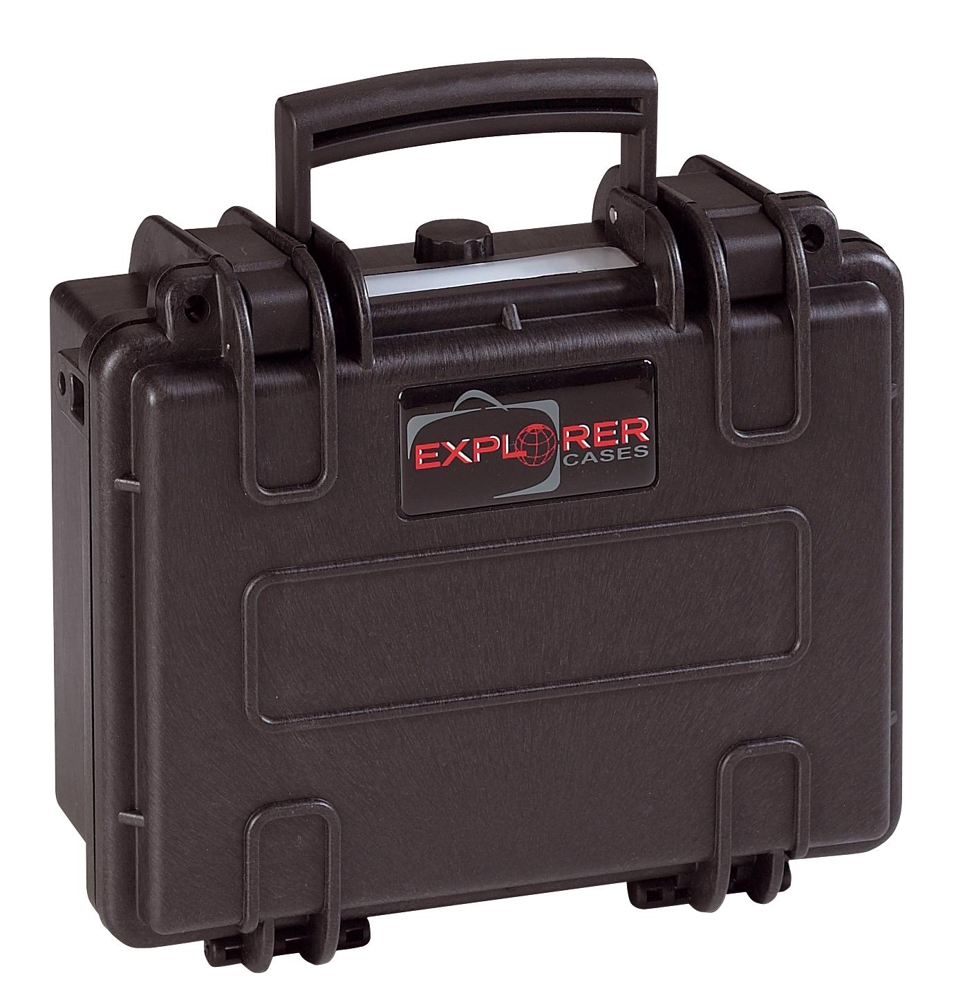 Explorer Koffer 2209 schwarz geschlossen