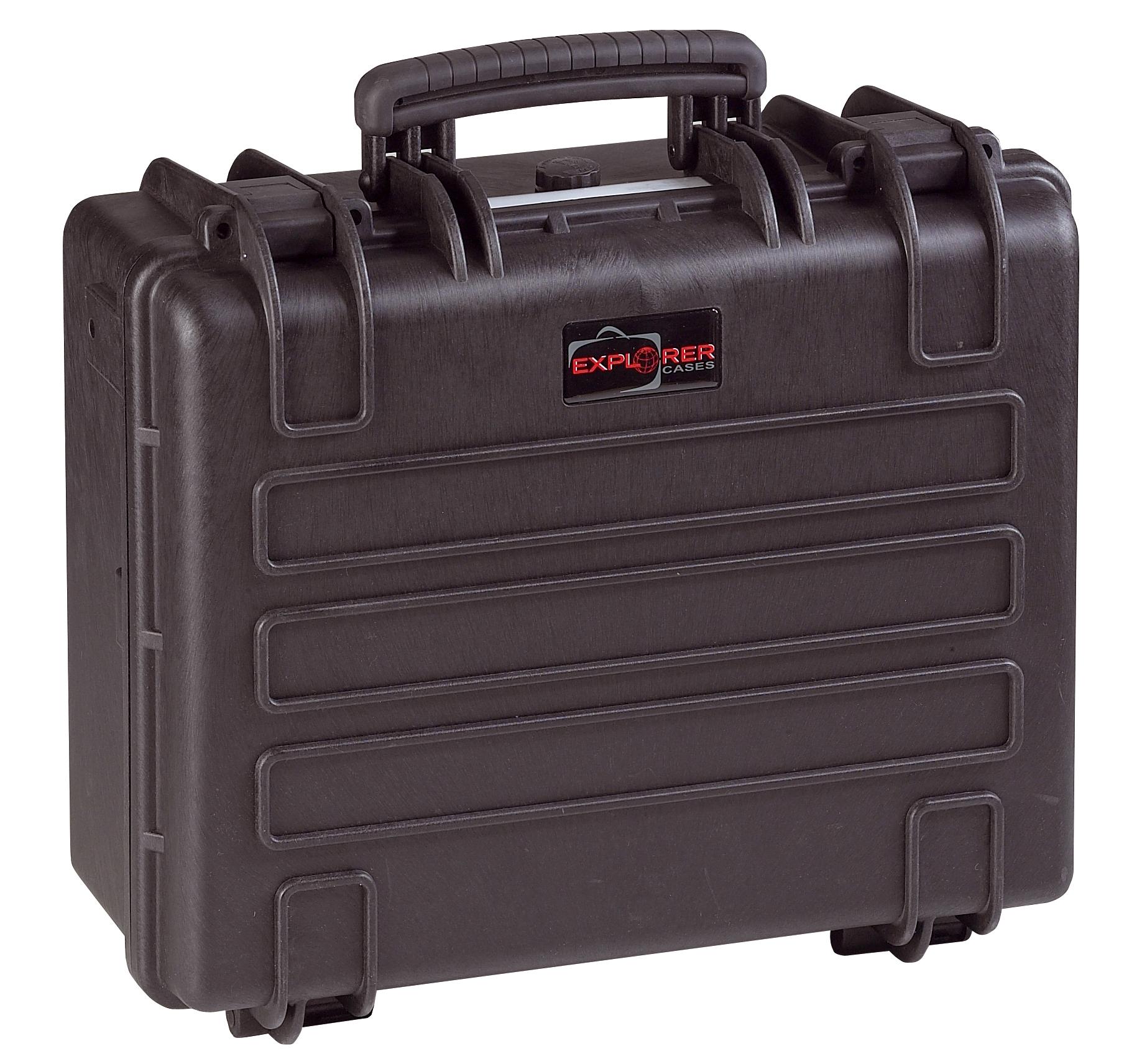 Explorer Koffer 4419 schwarz geschlossen