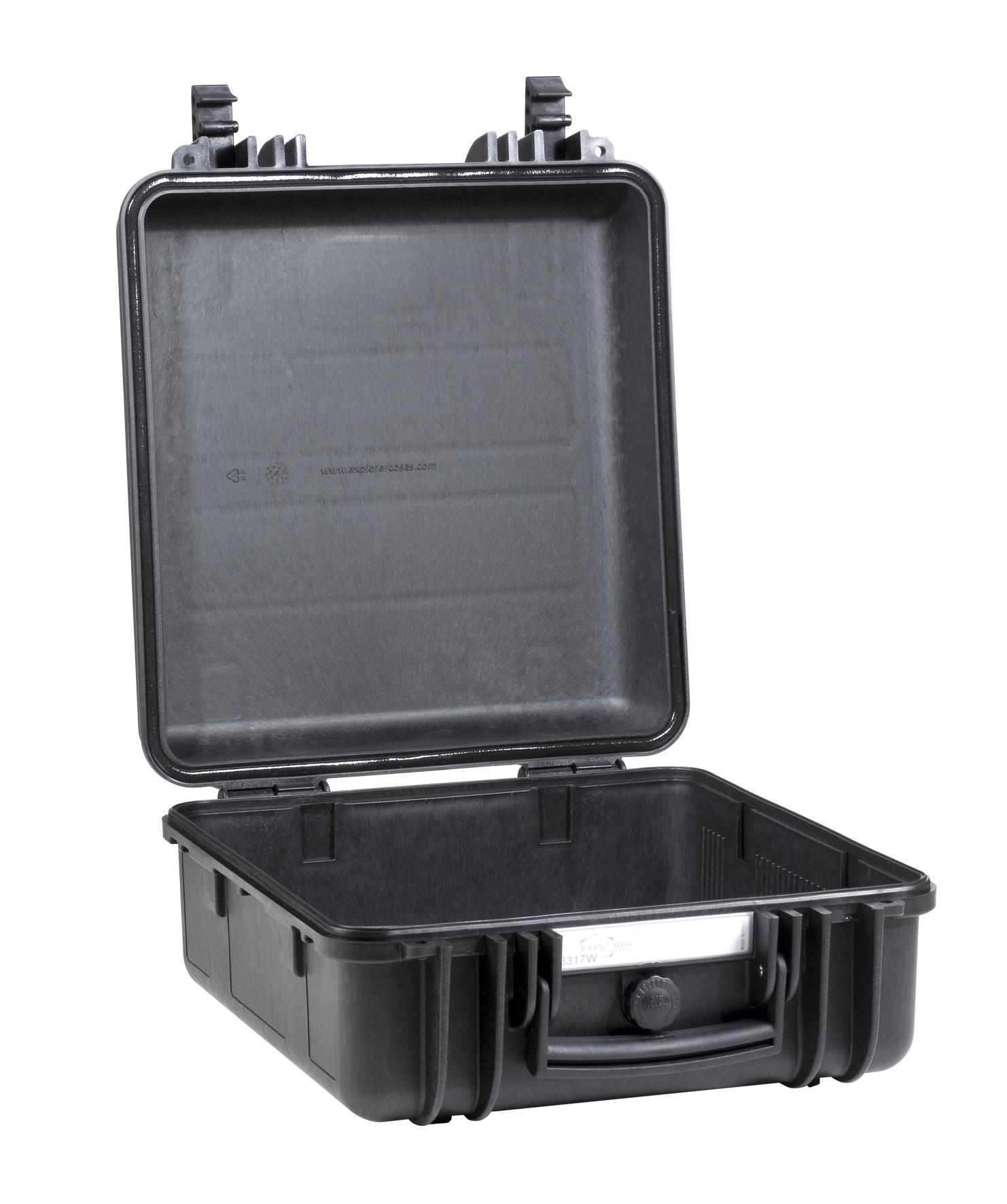Explorer Koffer 3317W schwarz offen